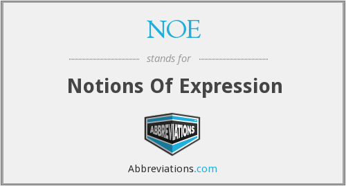 NOE - Notions Of Expression