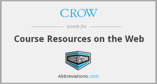CROW - Course Resources on the Web