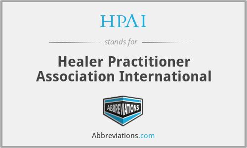 HPAI - Healer Practitioner Association International