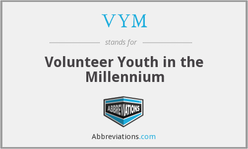 VYM - Volunteer Youth in the Millennium