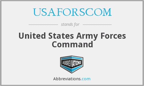 What does USAFORSCOM stand for?