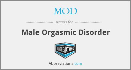 MOD - Male Orgasmic Disorder