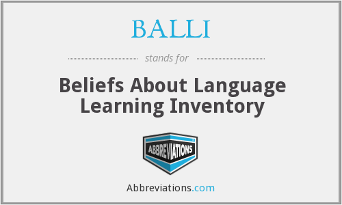 What does BALLI stand for?