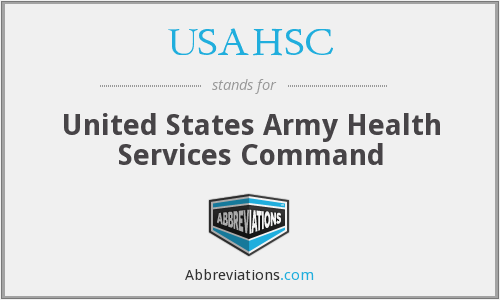 What does USAHSC stand for?