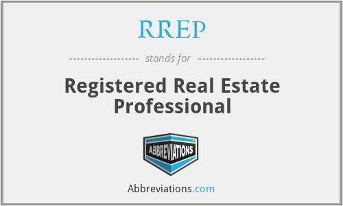 RREP - Registered Real Estate Professional