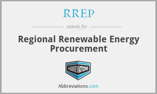 RREP - Regional Renewable Energy Procurement