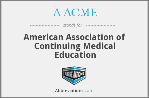 What does AACME stand for?