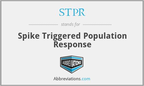 STPR - Spike Triggered Population Response