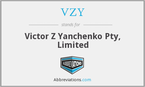 What does VZY stand for?