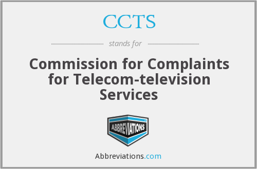 CCTS - Commission for Complaints for Telecom-television Services