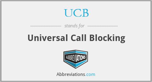 UCB - Universal Call Blocking