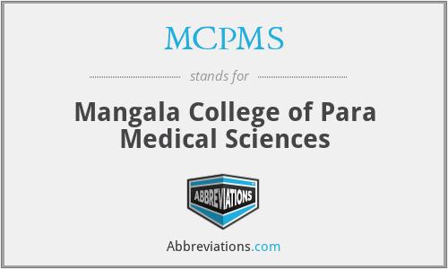 MCPMS - Mangala College of Para Medical Sciences