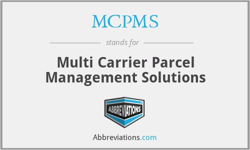 MCPMS - Multi Carrier Parcel Management Solutions