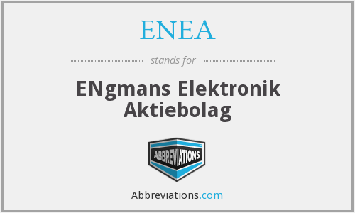 What does ENEA stand for?