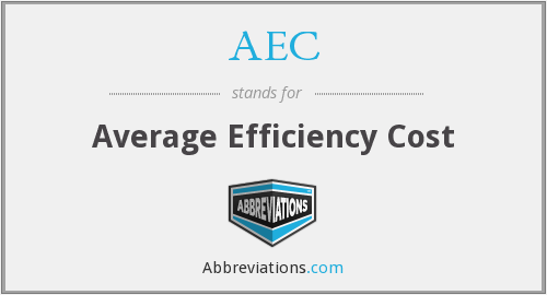 AEC - Average Efficiency Cost