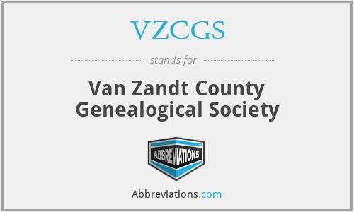 VZCGS - Van Zandt County Genealogical Society