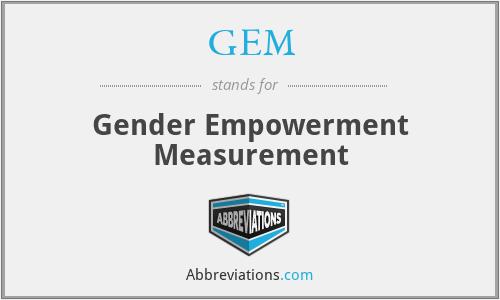 GEM - Gender Empowerment Measurement