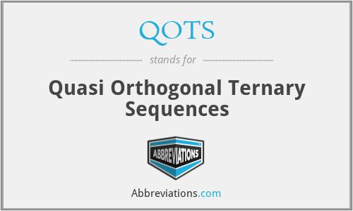 QOTS - Quasi Orthogonal Ternary Sequences