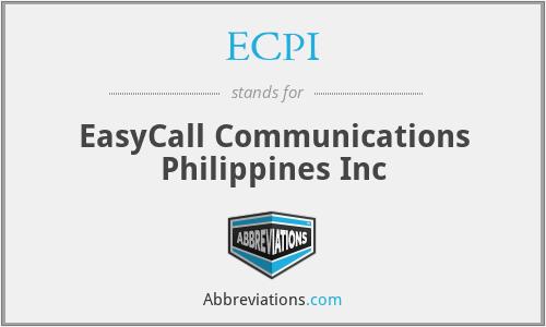 ECPI - EasyCall Communications Philippines Inc