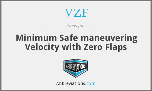 VZF - Minimum Safe maneuvering Velocity with Zero Flaps
