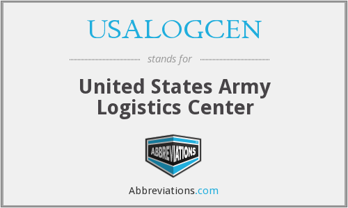 What does USALOGCEN stand for?