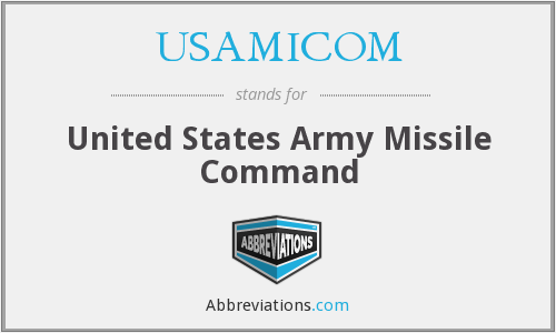What does USAMICOM stand for?