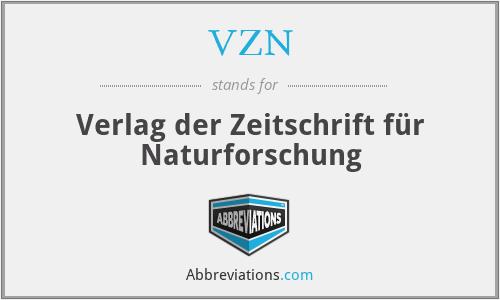 VZN - Verlag der Zeitschrift für Naturforschung