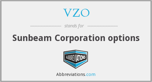 VZO - Sunbeam Corporation options