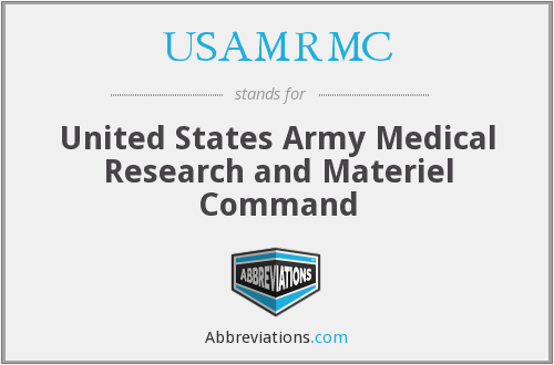 What does USAMRMC stand for?