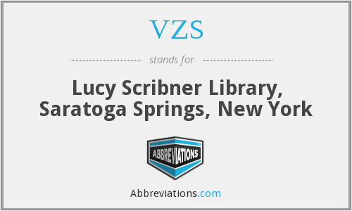 VZS - Lucy Scribner Library, Saratoga Springs, New York