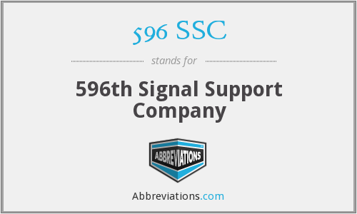596 SSC - 596th Signal Support Company