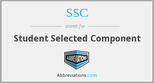 SSC - Student Selected Component