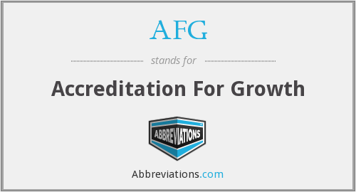 AFG - Accreditation For Growth