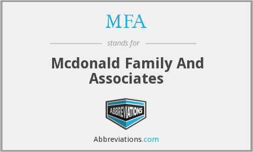 MFA - Mcdonald Family And Associates
