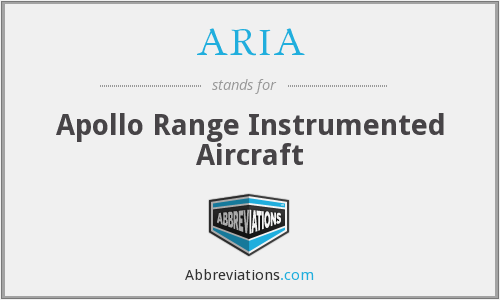 ARIA - Apollo Range Instrumented Aircraft