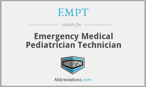 EMPT - Emergency Medical Pediatrician Technician
