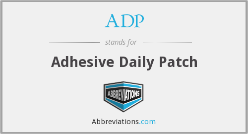 ADP - Adhesive Daily Patch