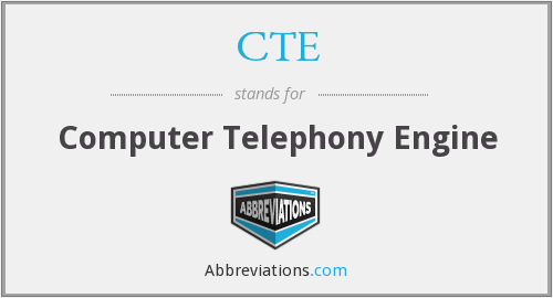 CTE - Computer Telephony Engine