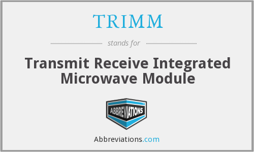 TRIMM - Transmit Receive Integrated Microwave Module