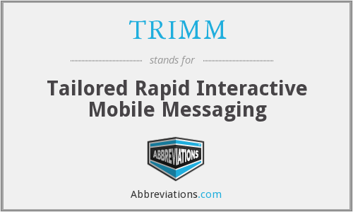 TRIMM - Tailored Rapid Interactive Mobile Messaging