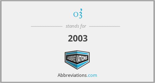 03' - 2003