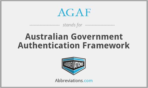 AGAF - Australian Government Authentication Framework