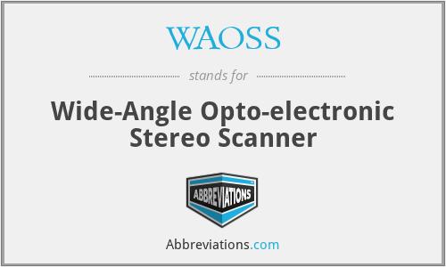 WAOSS - Wide-Angle Opto-electronic Stereo Scanner