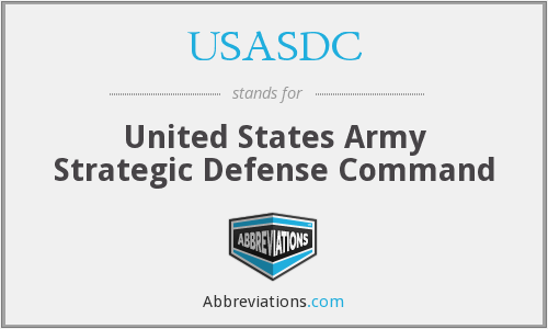 What does USASDC stand for?