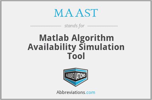 MAAST - Matlab Algorithm Availability Simulation Tool