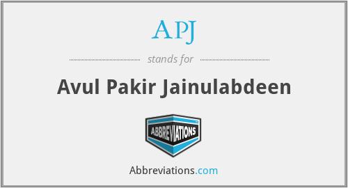 APJ - Avul Pakir Jainulabdeen