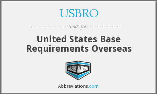 What does USBRO stand for?