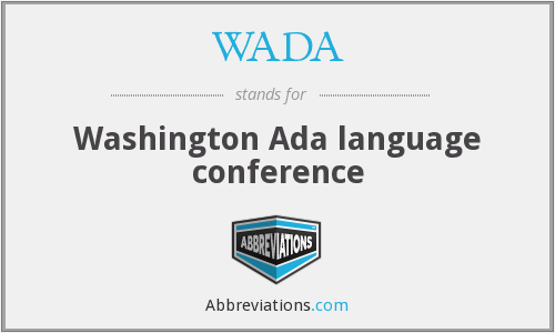 WADA - Washington Ada language conference