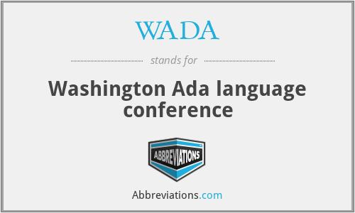 WADA - Washington Ada language conference
