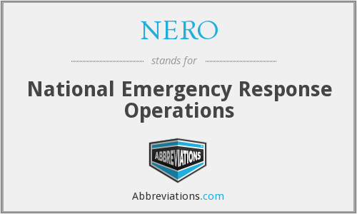 NERO - National Emergency Response Operations